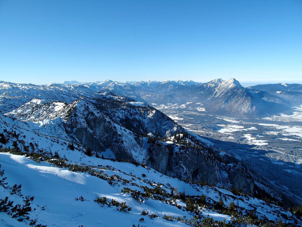 View to the Chiemgau Alps in Bavaria