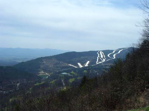 Massanutten Ski Area from Kaylor Knob Trailhead