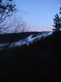 Massanutten Ski Area at Twilight