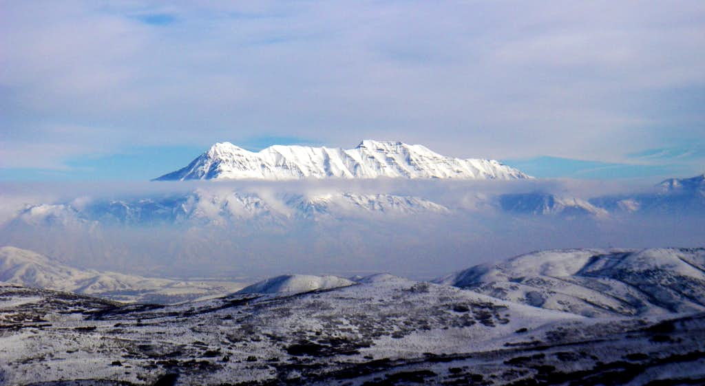 Mount Timpanogos from the Oquirrh Range