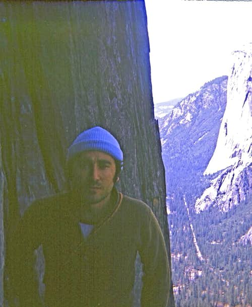 On the north face of Sentinel Rock, 1970s