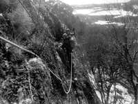 Cragging in New England in the 1970s
