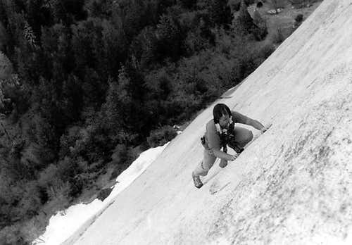 Free-Soloing on Glacier Point Apron