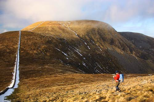 Windy day in the Mournes