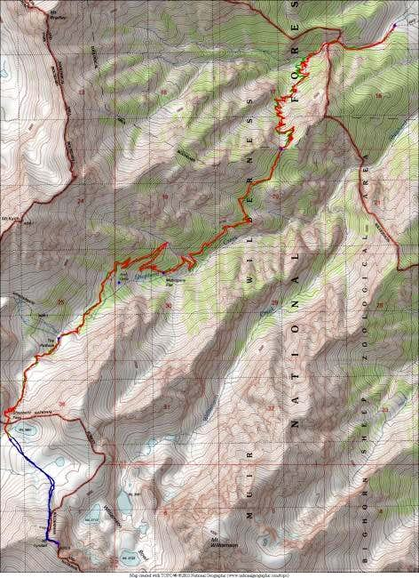6/27/04 - Topo map showing...