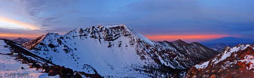 Humphreys Peak Sunset Panorama