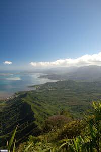 East shore of Oahu from Puu Ohulehule