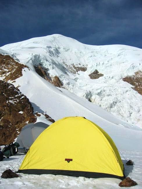 My Tent at high camp - route...