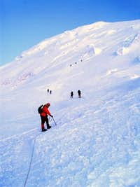 Doug on upper Emmons Glacier...