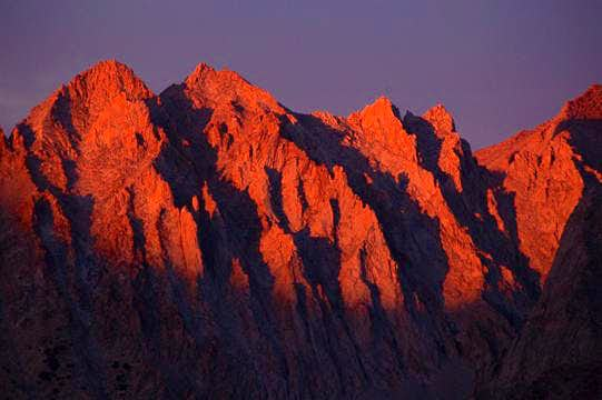 Alpenglow on Kings-Kern Divide