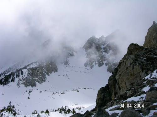 the couloir on a variable day