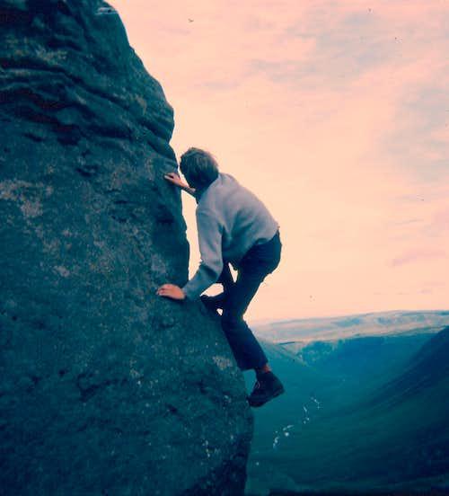 Me on Chir Mhor - Isle of Arran, Scotland. '70s