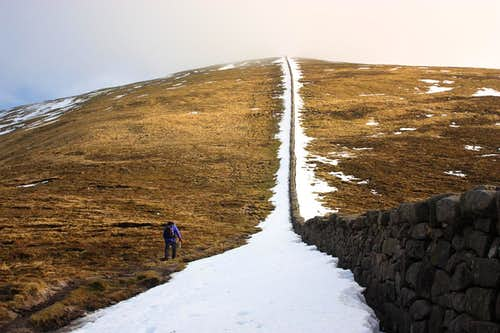 Follow the wall to Slieve Donard