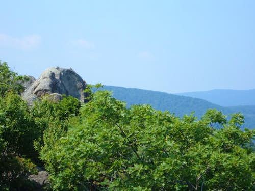 The true summit of Mary\'s Rock.