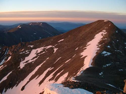 7/3/04: Grays Peak just after...