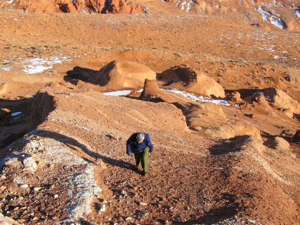 Appraoching the summit area