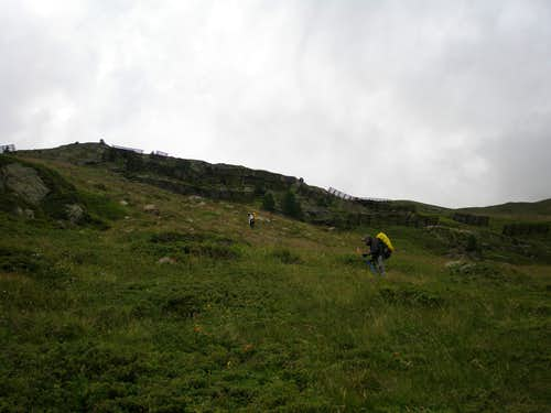 Winding path to Stablein Alm
