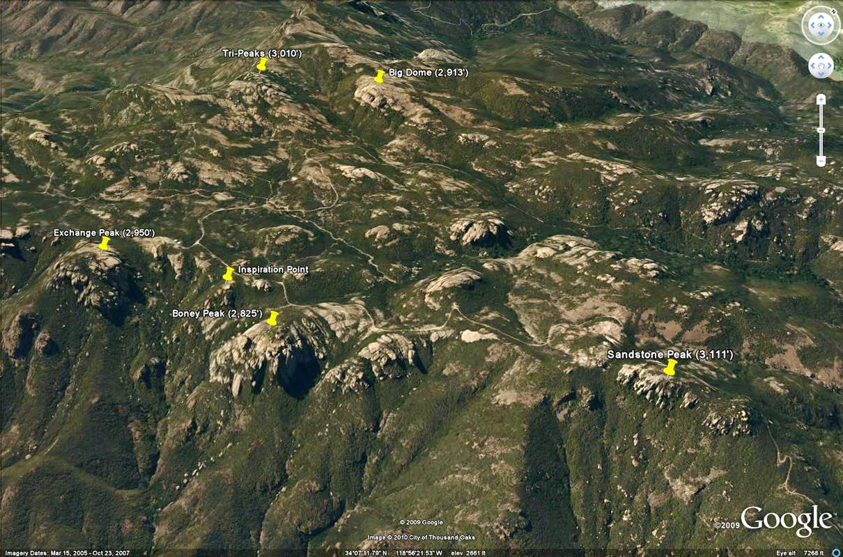 Mountains Google Earth Boney Mountain Area Google