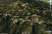 Boney Mountain Area - Google Earth Rendition