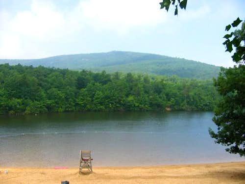 The swimming lake at the...