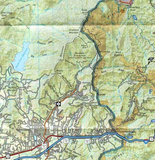 Map of Montreat Trails