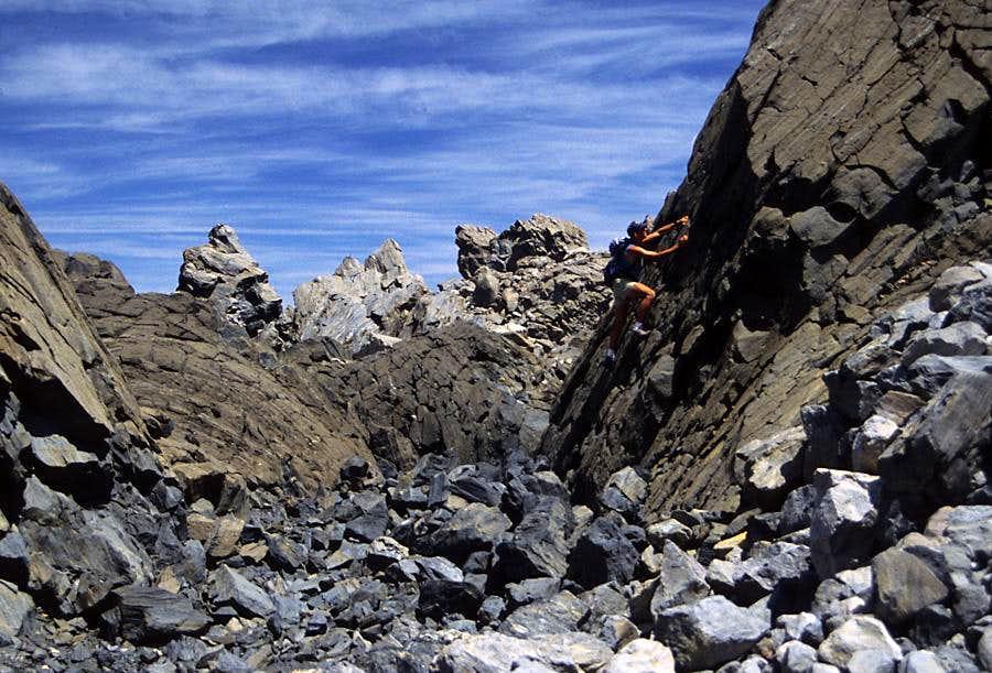 Bouldering on Obsidian
