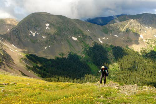 Approaching the summit of Wheeler Peak