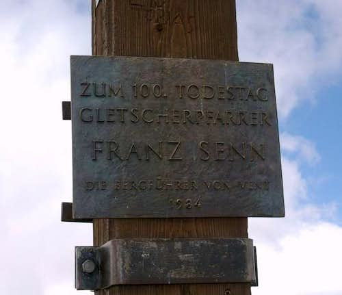 Plaque on the cross