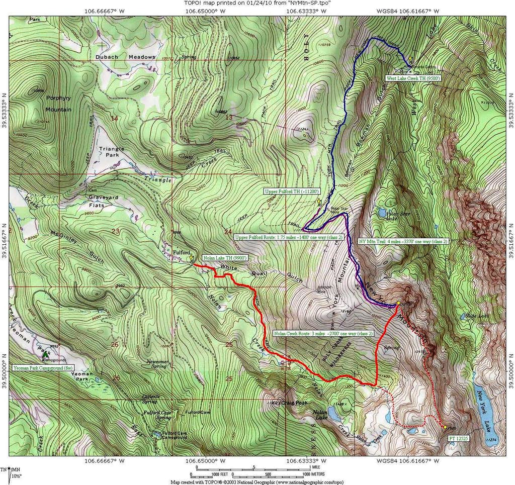 New York Mtn Summer Routes