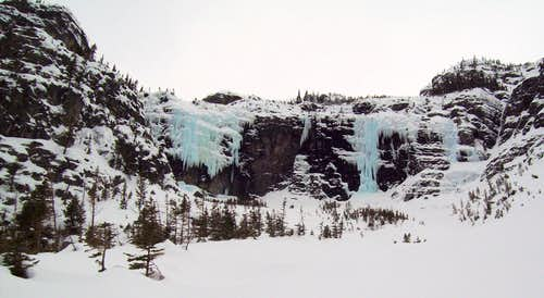 Snyder Lake Ice Falls