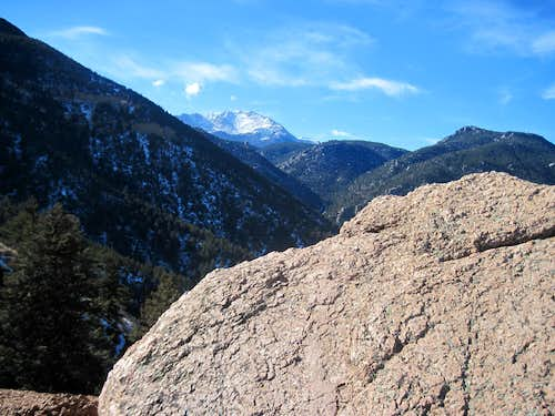 Pikes Peak to the west