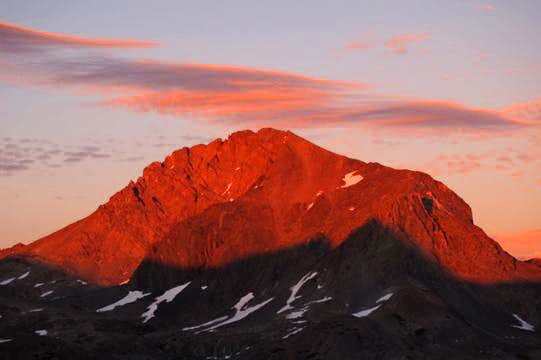 Mt. Goddard at Sundown