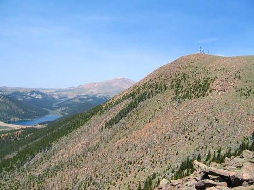 From Baldy\'s southwest ridge....