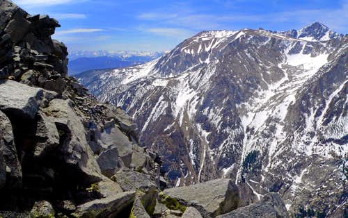 Canyon Peak south to Mt. Dana massif