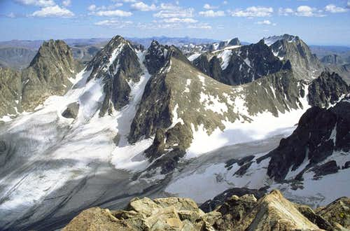 Looking SE from the summit of...