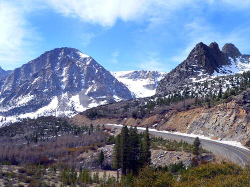 Highway 120 winding up to Tioga Pass