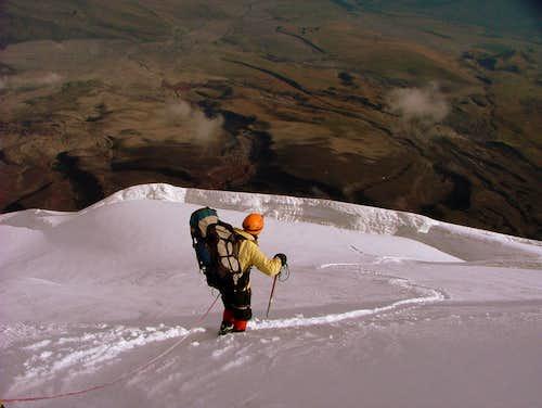 5,500 m crevasse.