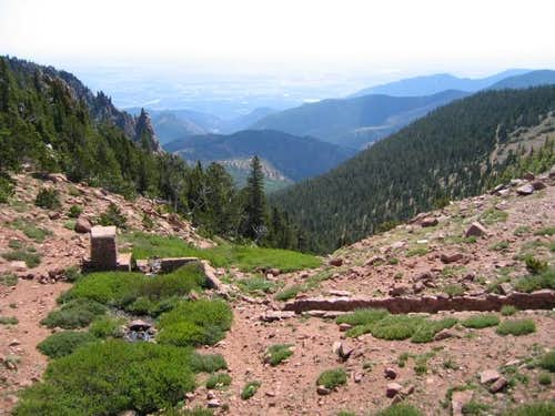 Cheyenne Canyon from the top,...