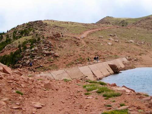Stratton Reservoir dam....