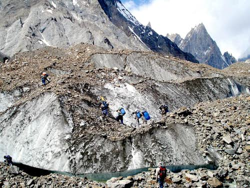 Trekkers on Baltoro
