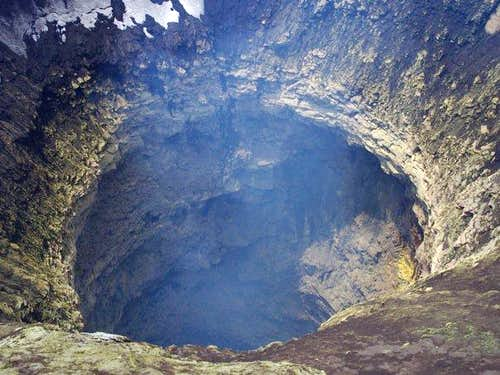 Villarrica crater close up, Jan 2010