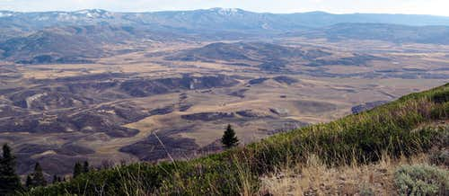 Steamboat Springs and Yampa Valley from Sleeping Giant