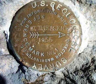 Mt. Thielsen (OR) Witness marker