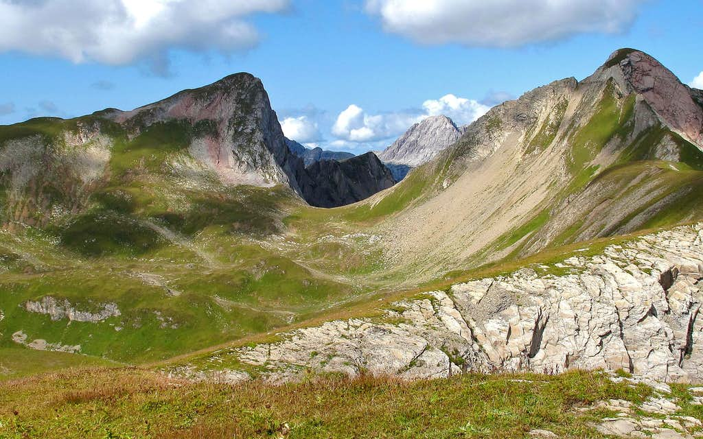 View into the Lechquellengebirge