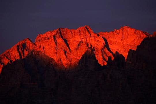 Alpenglow on Kings-Kern Divide
