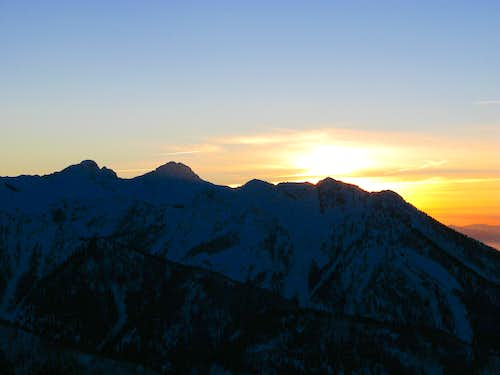 Sunset over the Wasatch