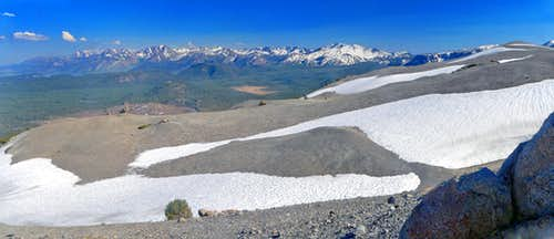 South pano from White Wing Mountain