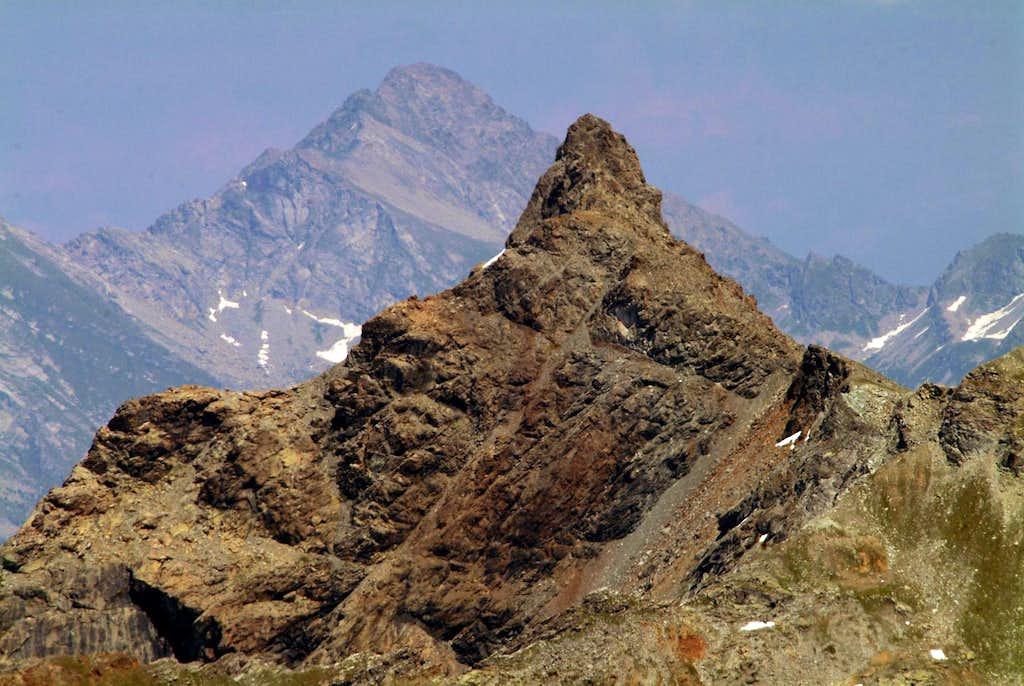 Mont Avic from  Leppe Peak