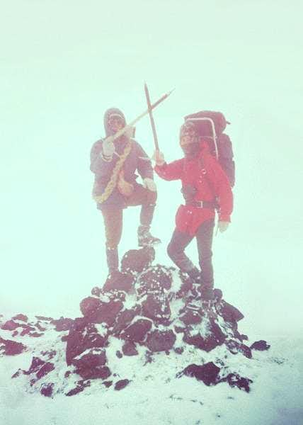 My two comrades on the summit...