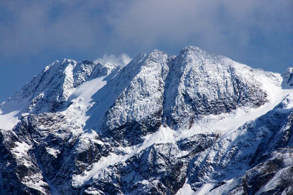 Lazaunspitze (3218m, 3313m), Saldurspitze (3433m), Lagaunspitze (3439m)